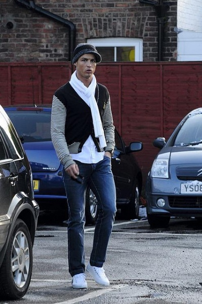 Cristiano Ronaldo in the parking