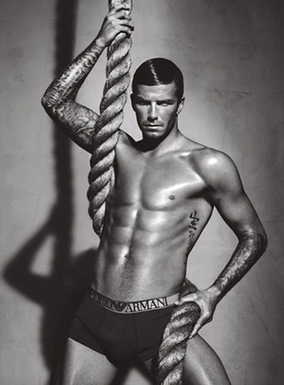 David Beckham advertise Armani underwear 2010