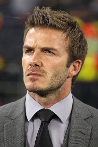 David Beckham deep in thoughts