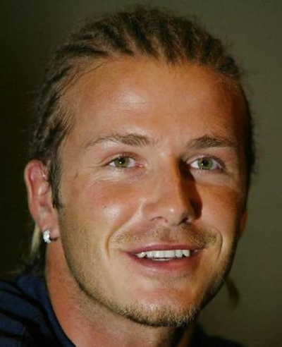 David Beckham with dreadlocks