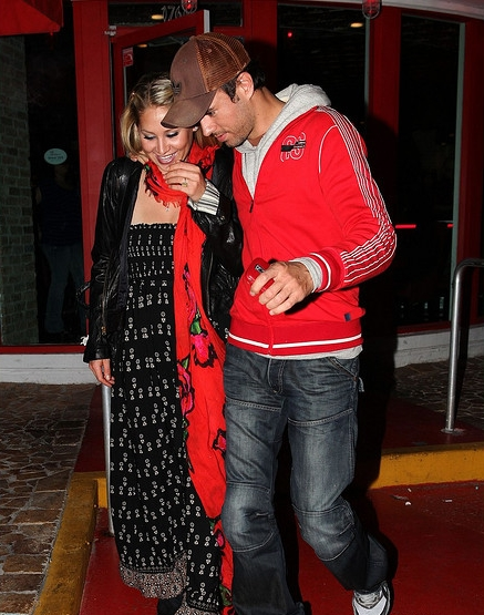 Enrique and Anna out to dinner