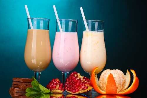 Fruit Milkshakes for Dessert