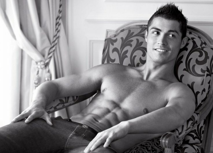 cristiano ronaldo sitting on the chair
