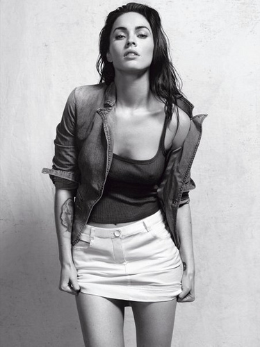 Megan Fox dresses down for an exclusive photo shoot for Armani