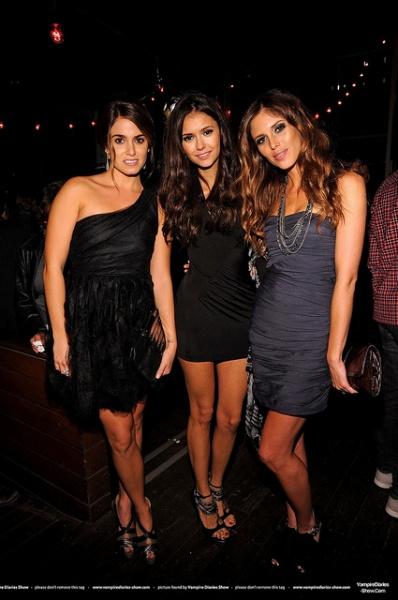 Nina Dobrev,Kayla Ewell and Nikki Reed poses at the Spike TV's Scream Awards 2010