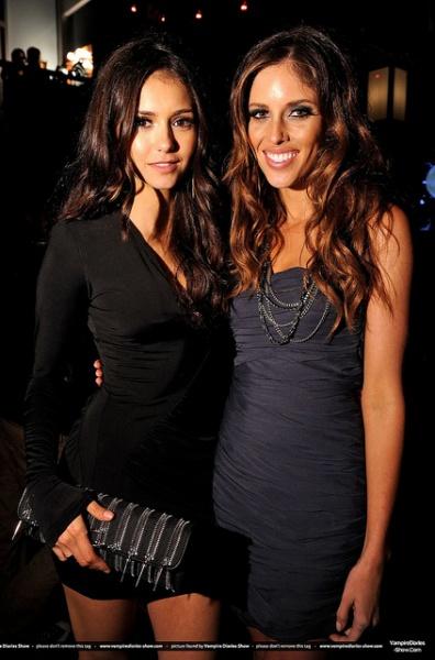 Nina Dobrev and Kayla Ewell poses at the Spike TV's Scream 2010 Awards