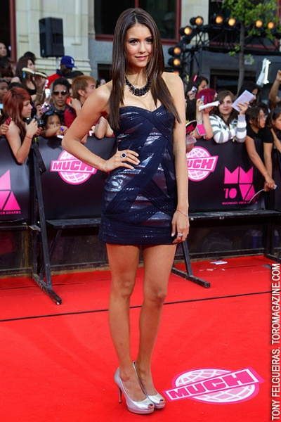 Nina Dobrev poses at the MuchMusic Video Awards 2010