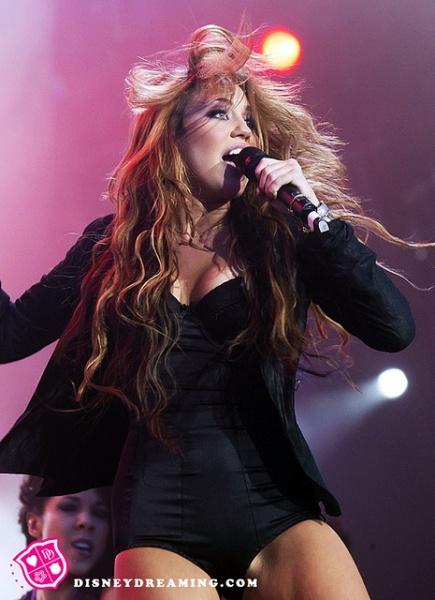 r Miley Cyrus performs on stage during Rock in Rio Festival in Arganda del Rey, Spain