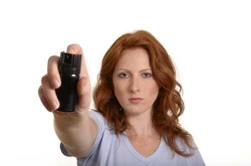 Mace or pepper spray