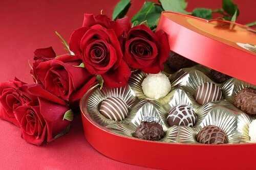 Buy a beautiful heart shaped candy box