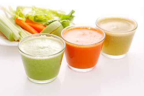 Carrot, celery and apple juice