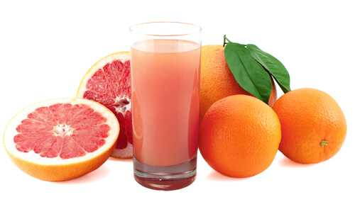 Orange and grapefruit juice