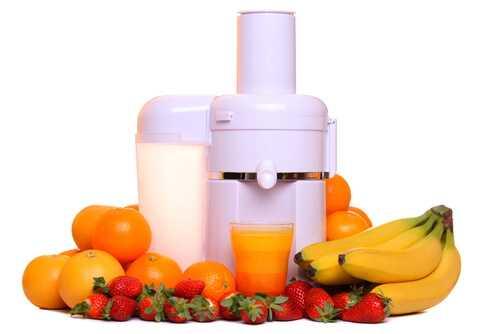 Orange, banana, strawberry and grapefruit juice