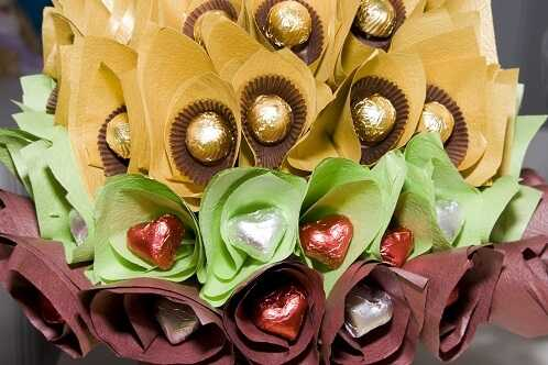 Candy wedding bouquet