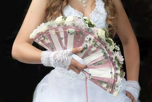 Fan wedding bouquet
