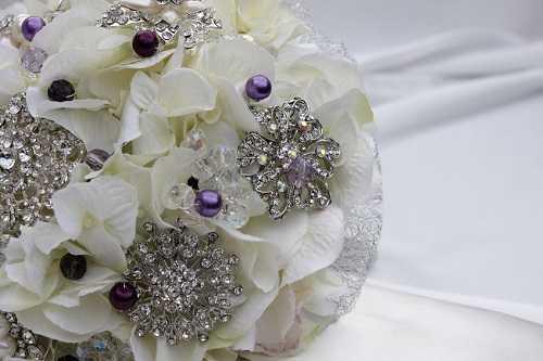 Vintage crystal bouquet