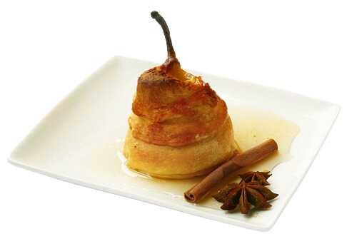 Honey baked pears