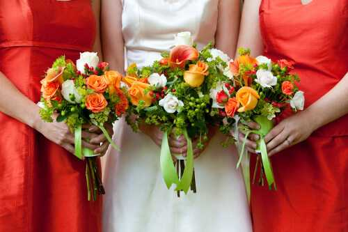 Orange and red wedding color combinations