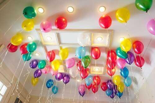 Rainbow colored wedding