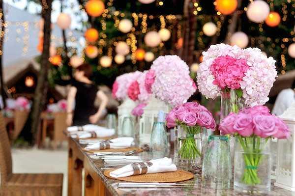 Wedding Color Table