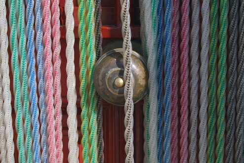 Antique doorknob curtain tiebacks