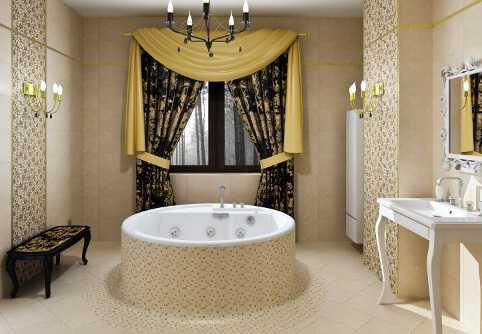Bathroom bold pattern
