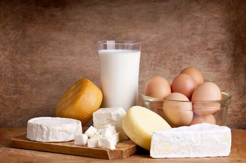 Eggs and dairy products