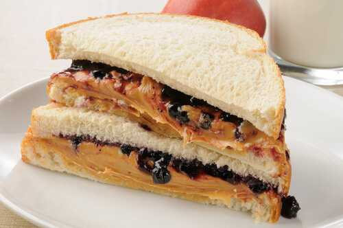 The peanut butter and jelly sandwich