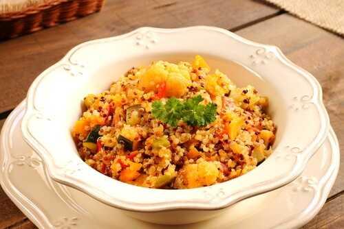 quinoa and veggie dinner