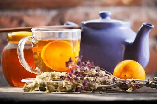 Use honey as a sweetener in herbal teas