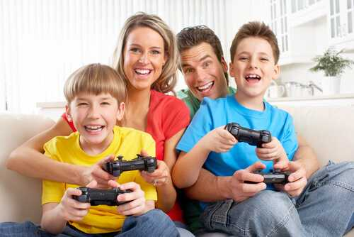 Play video games or board games