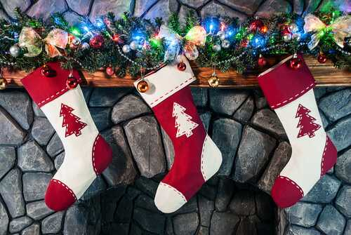 Stockings with treats for your guests
