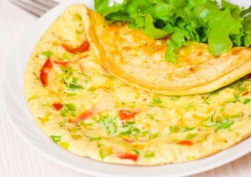 A veggie omelet