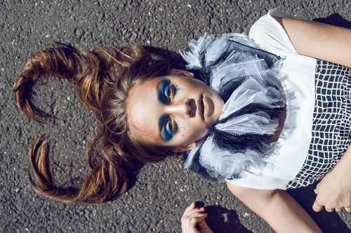 Bold blue eyes