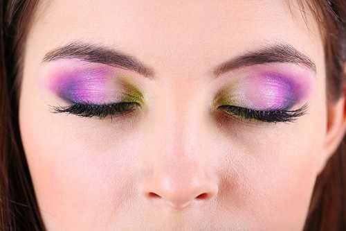 Shimmery Eye Shadow and Heavy Concealer