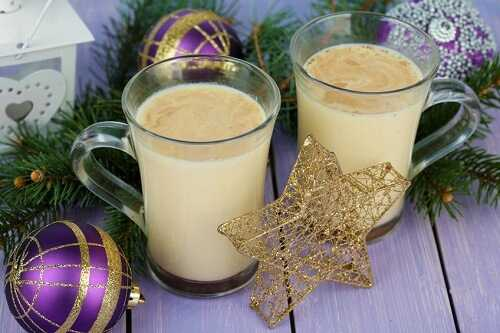 Enjoy a cup of eggnog