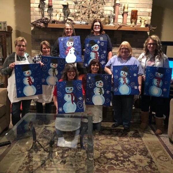 10 Fabulous Winter-Themed Party Ideas Winter Painting Party