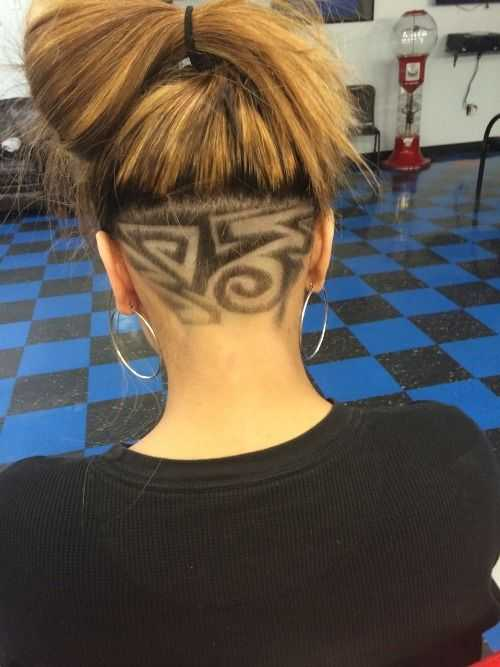 The New Hair Trend Secret Undercut Hair Tattoos