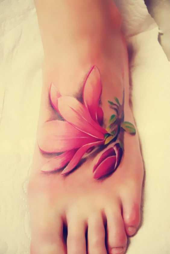 Floral designs tattoo