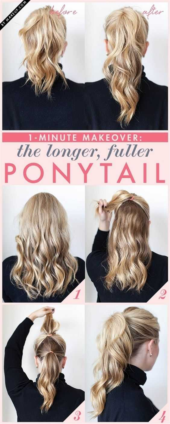 The longer and fuller ponytail