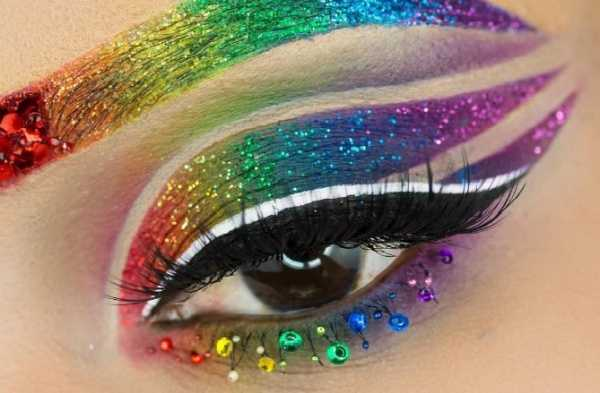 Here Is Why Everyone Is Obsessed with Rainbow Makeup Now