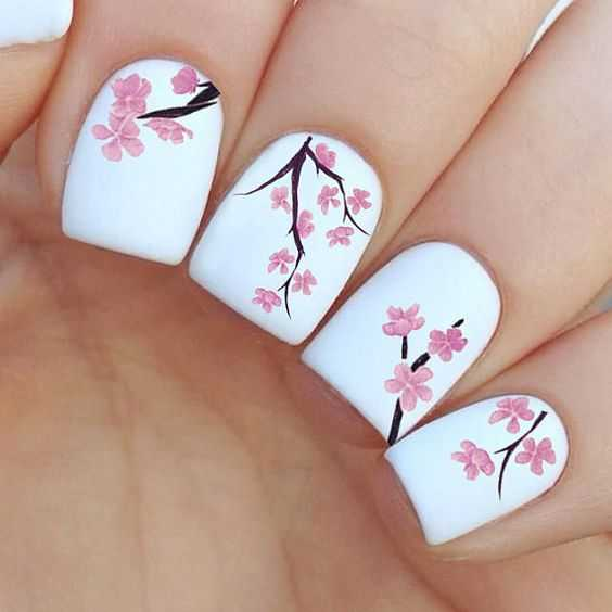 Cherry Blossom Beauty nails