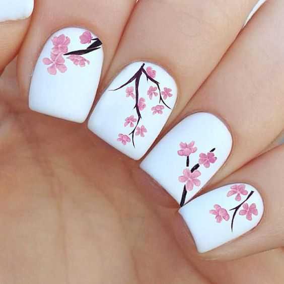 Cherry Blossom Beauty nails