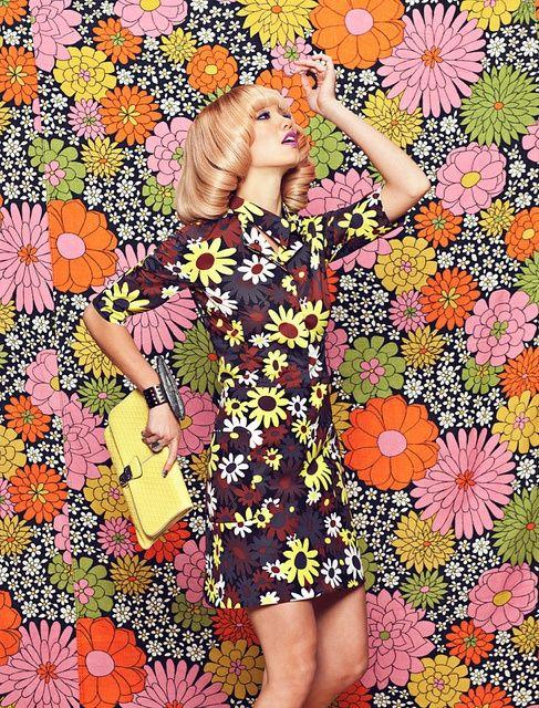 60s floral print