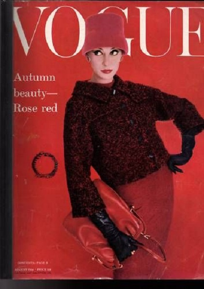 British Vogue Cover August 1956
