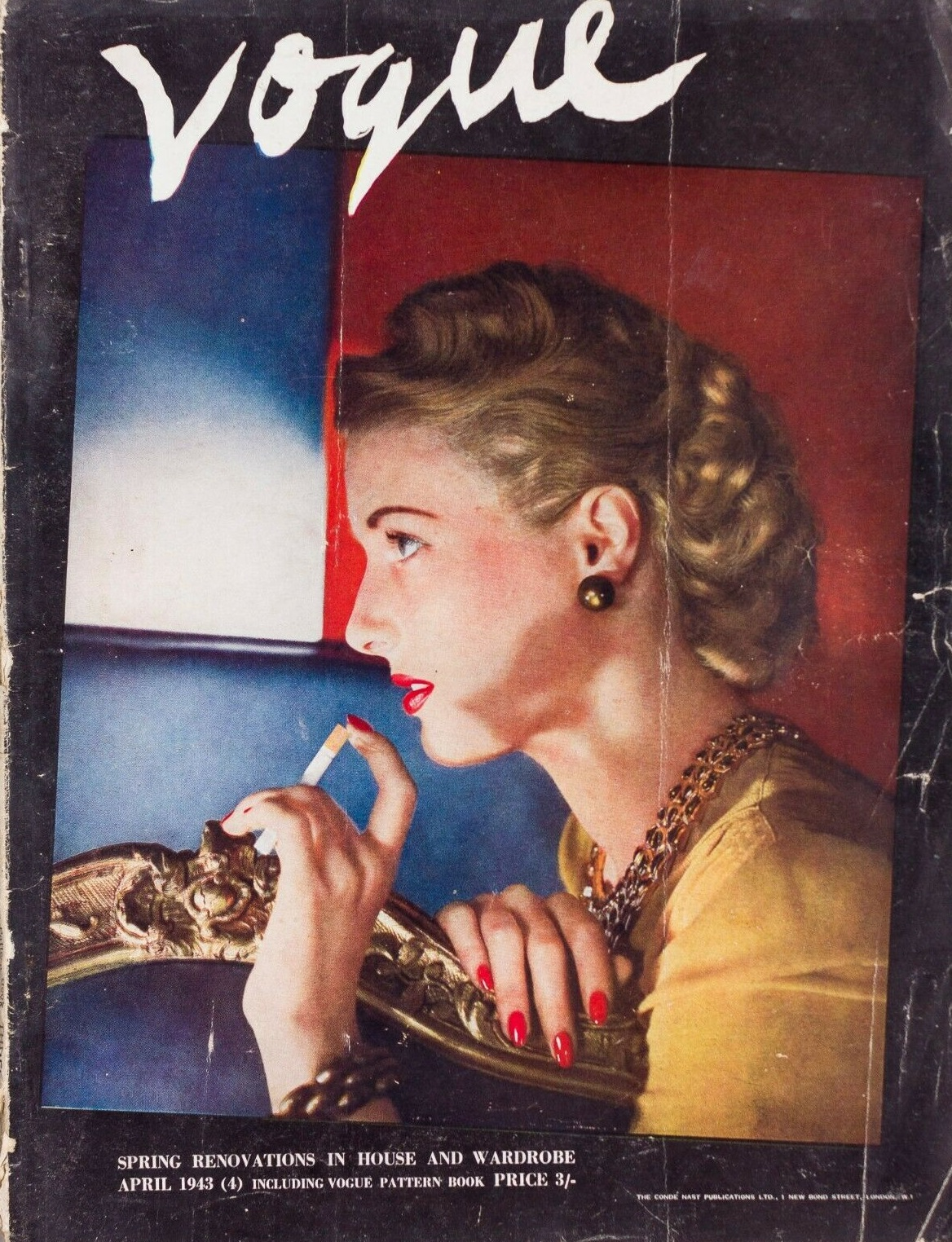 British Vogue Cover April 1943