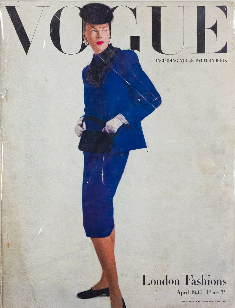 British Vogue Cover April 1945
