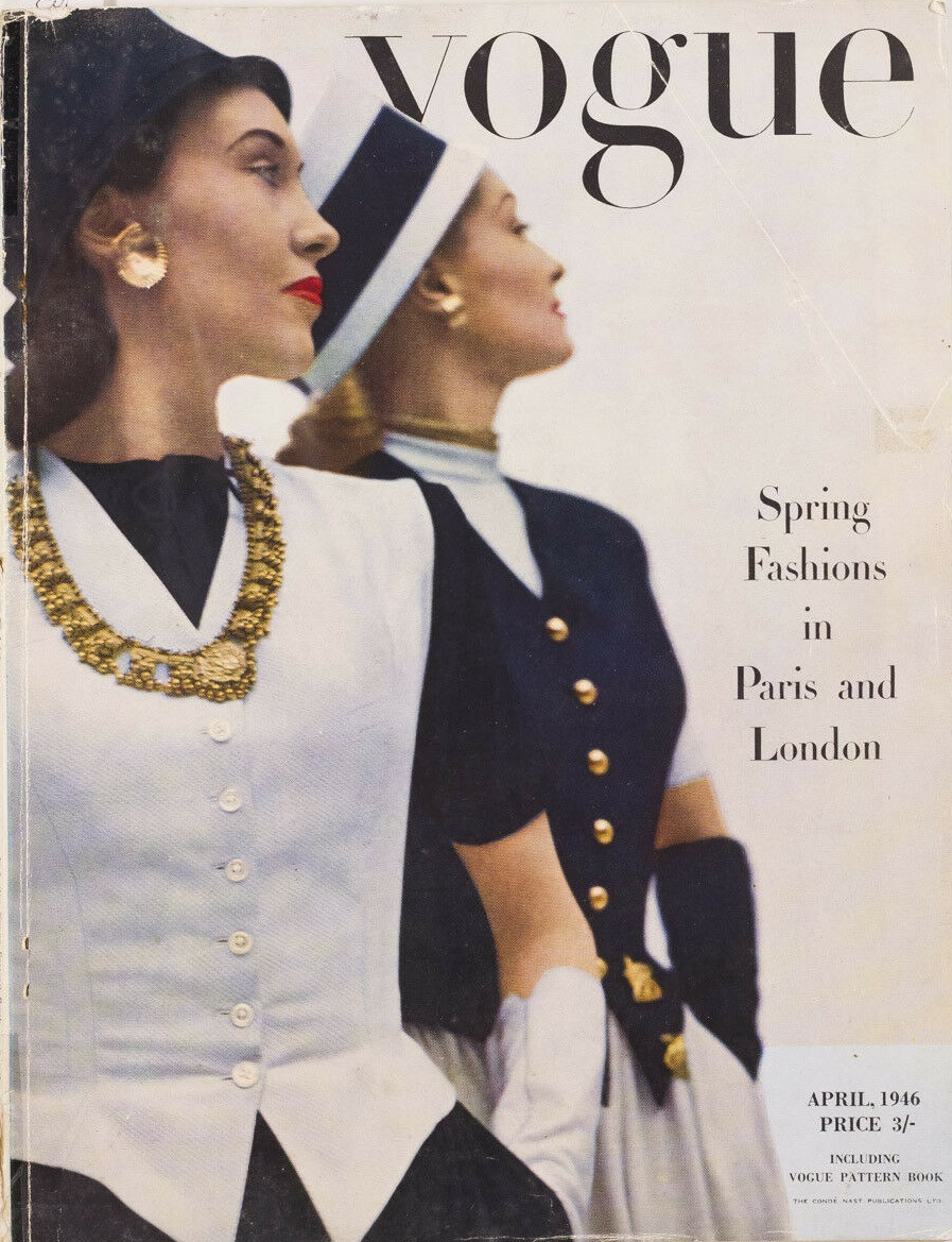 British Vogue Cover April 1946