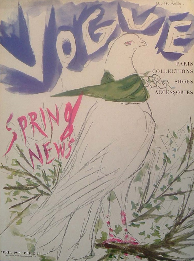 British Vogue Cover April 1949