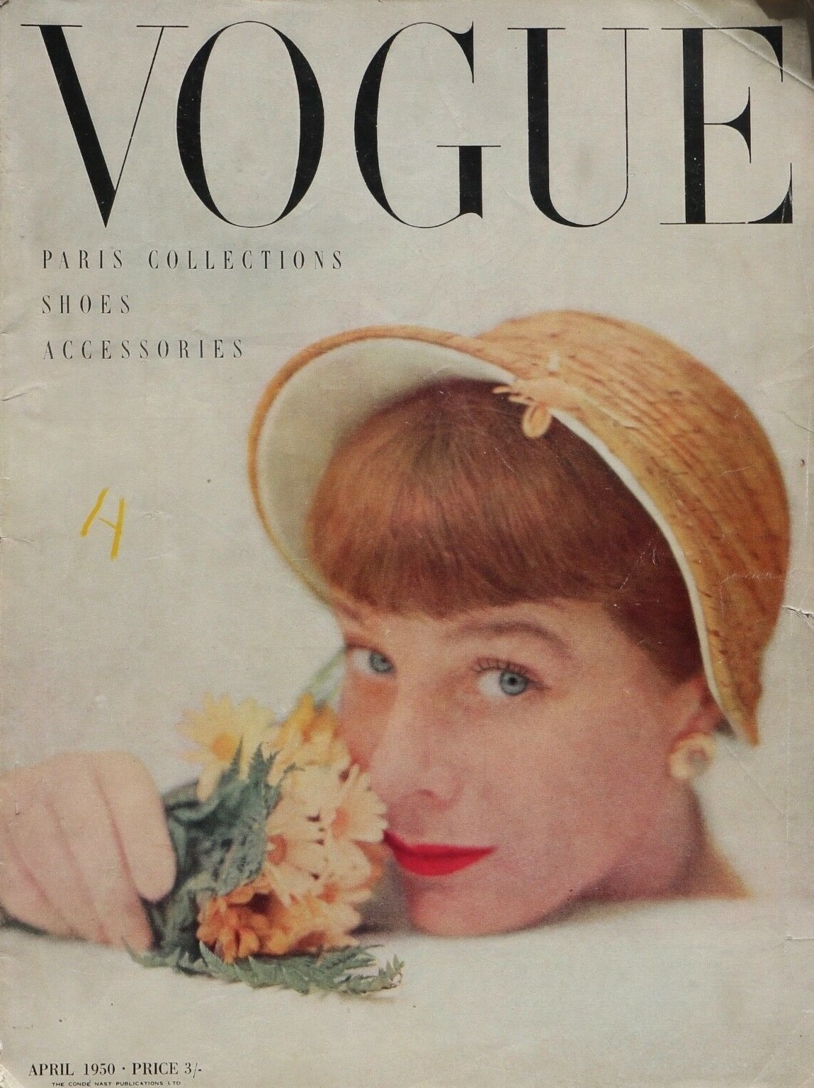 British Vogue Cover April 1950